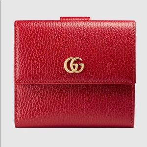 Authentic Gucci Leather Flap Wallet